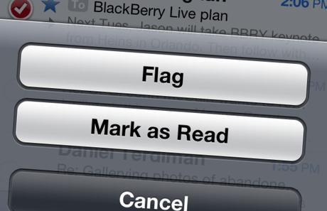 20 vấn đề cần được Apple sửa chữa trong iOS 7 nếu ra mắt - Flag email