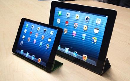 iPad 5 chỉ nặng hơn iPad Mini khoảng 100 gram