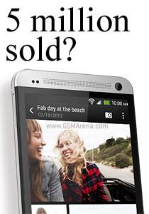 HTC đã bán được 5 triệu mẫu smartphone One?