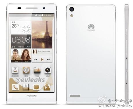 Huawei Ascend P6 mỏng 6,18 mm rò rỉ hình ảnh báo chí 2