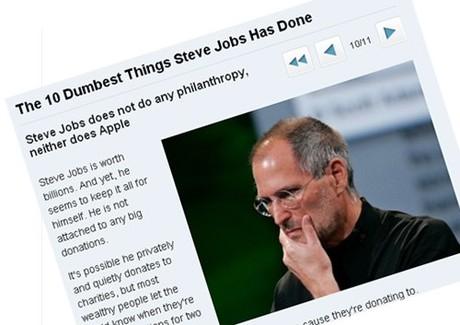 Steve Jobs âm thầm làm từ thiện suốt 20 năm