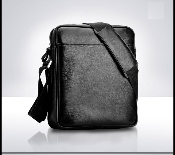 Túi da nam SantaGolf màu đen mặt sau