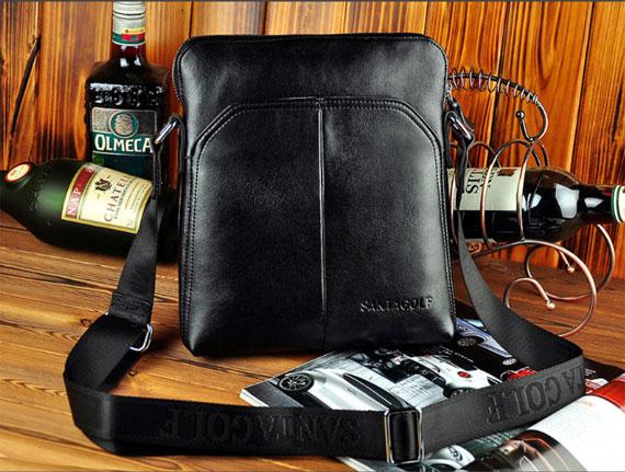 Phiên bản màu đen sang trọng của túi da SantaGolf