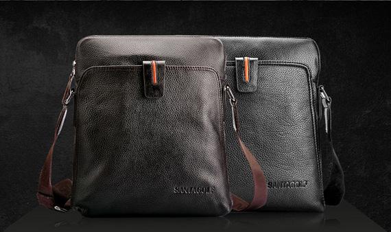 Túi da nam thời trang Hàn Quốc SantaGolf có 2 màu