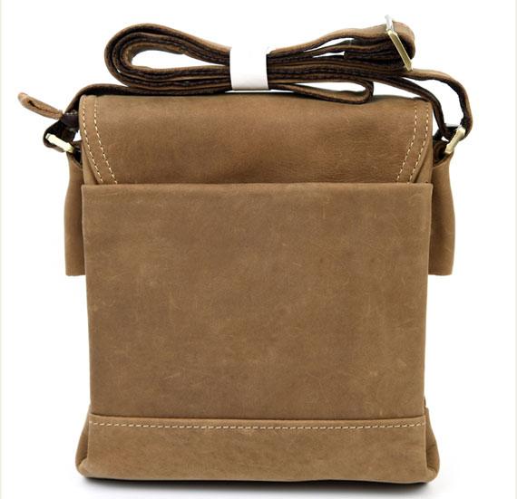 Túi xách nam da thật Jeep dạng hộp 001 màu nâu cafe mặt sau