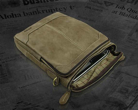 Mở khóa cách điệu của túi xách nam da thật Jeep dạng hộp 002