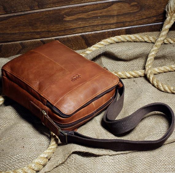 Túi xách nam da thật Jeep dạng hộp 003 thời trang