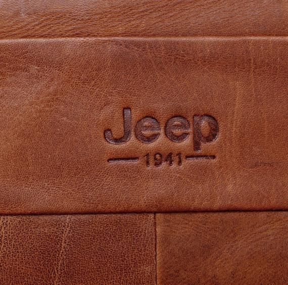 Logo túi xách nam da thật Jeep 003 in chìm săc nét
