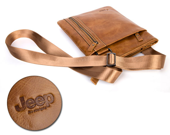 Túi xách nam da thật Jeep siêu mỏng