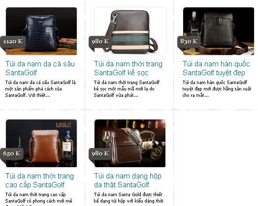 Bộ sưu tập túi xách nam hàng hiệu Santagolf 2014