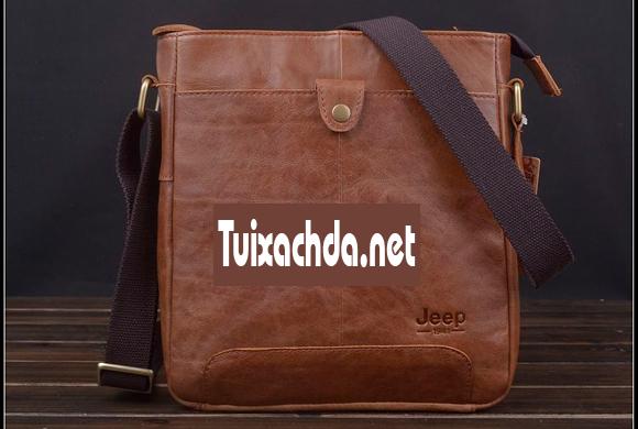 Túi xách nam hàng hiệu Jeep 011 da thật dạng hộp