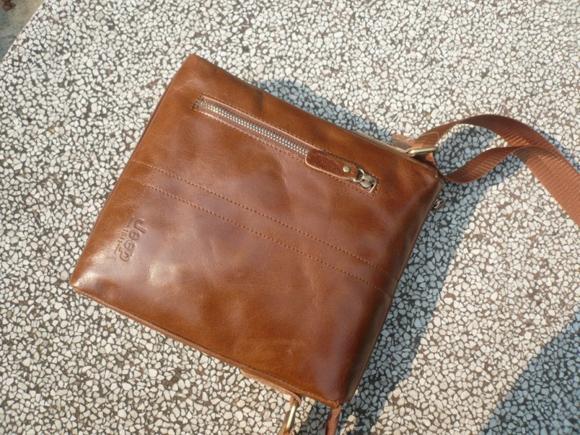 Túi xách nam hêp 015 da thật nhìn từ trên xuống