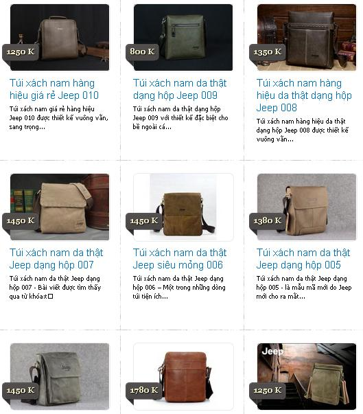 Một số sản phẩm túi xách đẹp cho nam có bán tại AFI Shop
