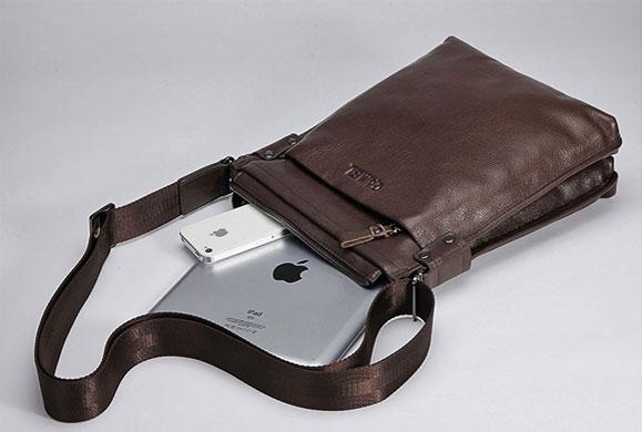Túi xách da thật Camel đựng iPad