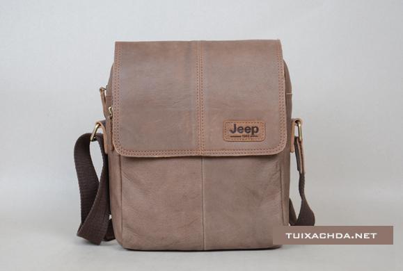 Túi xách nam đẹp Jeep 018 da thật thời trang nam tính màu nâu