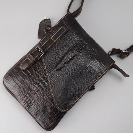 Túi đựng iPad mini vân cá sấu tinh xảo màu nâu đậm