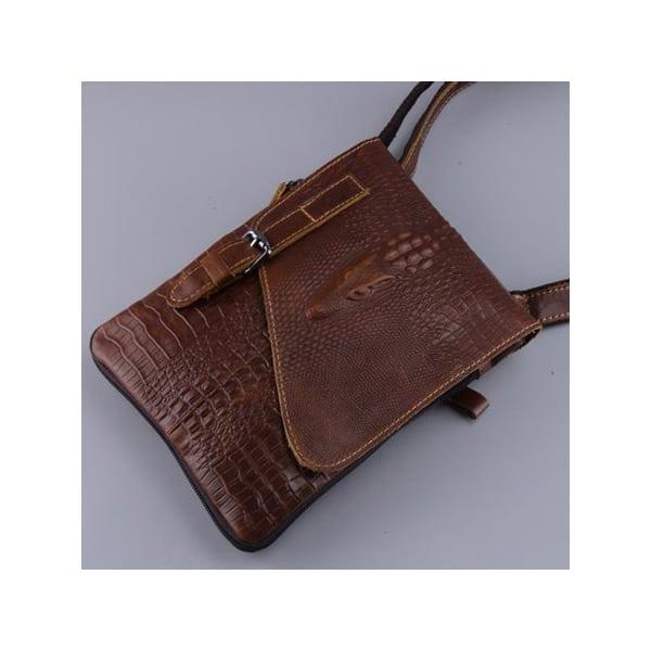 Túi da đeo chéo đựng ipad mini giả vân cá sấu