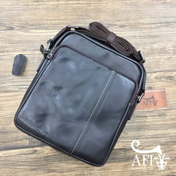 Túi đeo chéo nam da thật đẹp độc la 02 màu đen