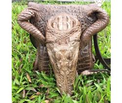 Hàng độc túi da cá sấu nam