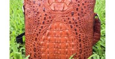 Túi đeo chéo nam da cá sấu thật 01