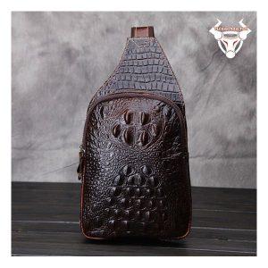 Túi đeo sau lưng nam vân cá sấu 02