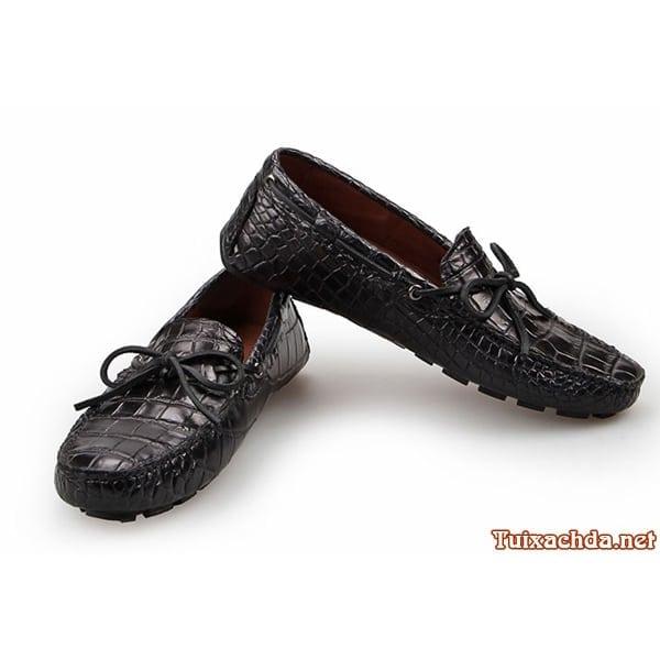 Giày mọi da cá sấu thật cho nam 011