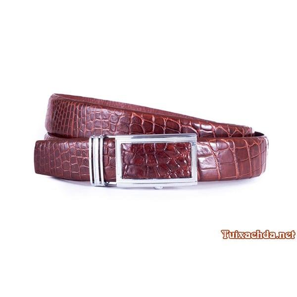 Thắt lưng nam da cá sấu thật giá rẻ 012