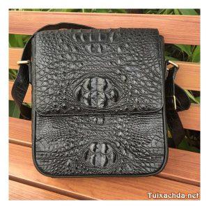 Túi da cá sấu thật đeo chéo nam 03