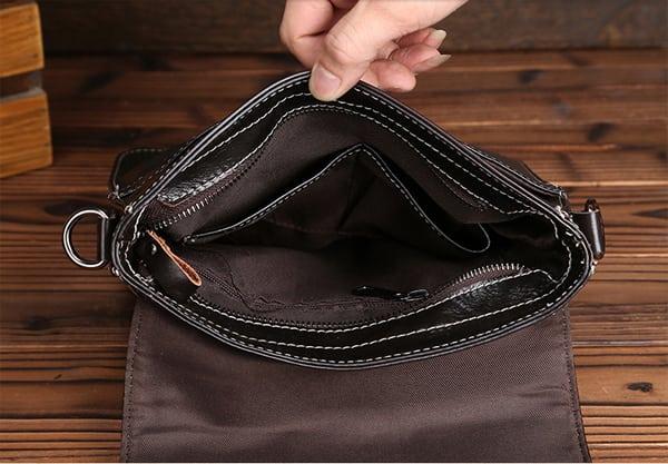 Bên trong túi xách nam hàng hiệu giá rẻ 010