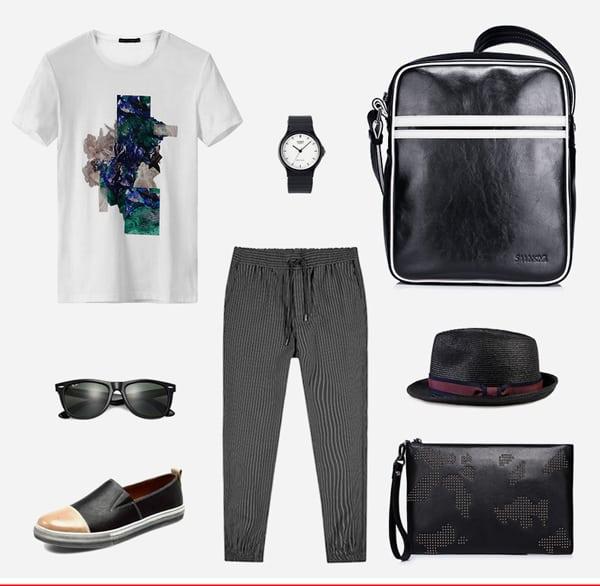 Túi xách nam hàng hiệu da thật hợp thời trang, đa phong cách