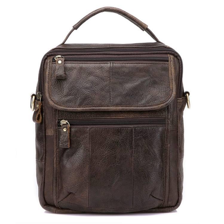 Túi đeo chéo nam da thật giá rẻ có quai xách tay KT41 ghi