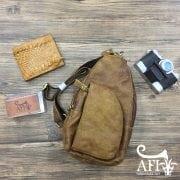 Túi đeo lưng đẹp cho nam bằng da thật giá rẻ tại Hà Nội 002 màu vàng bò