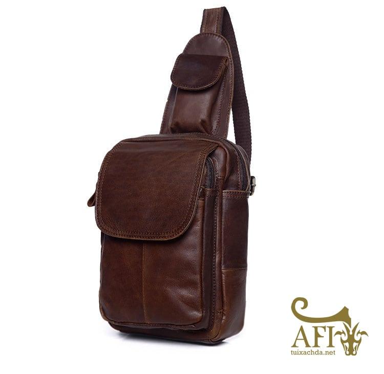 Túi đeo lưng nam thời trang da thật đựng iPad mini tdl10