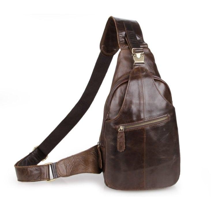 Túi đựng iPad đeo ngực nam da thật thời trang TDL12