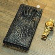 Ví cầm tay da cá sấu hình móng tay giá rẻ VCSN18 mặt trước