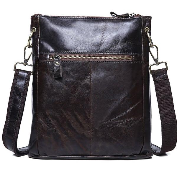 Túi đeo chéo nam da thật siêu mỏng đựng iPad KT42-M mặt sau