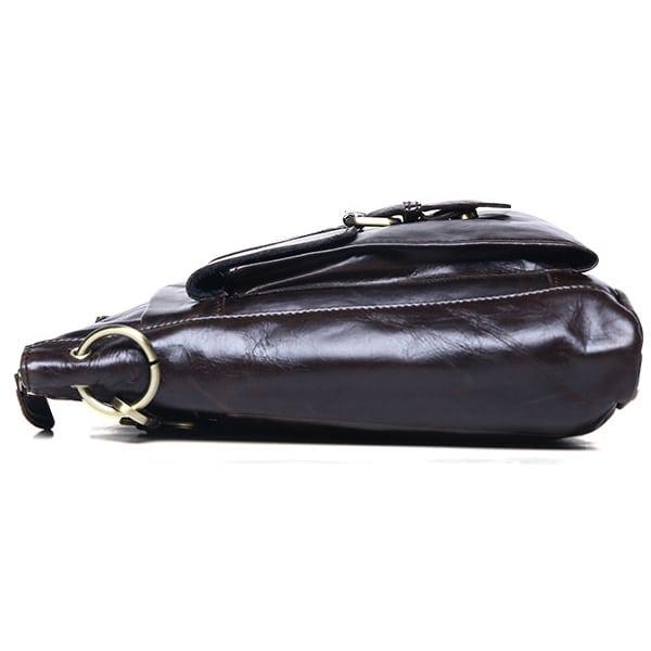 Túi đeo chéo nam da thật siêu mỏng đựng iPad KT42-M thân túi