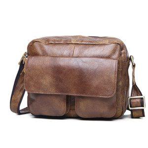 Túi đeo chéo nam đựng iPad da thật dạng hộp KT48