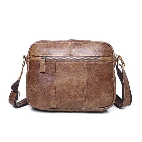 Túi đeo chéo nam đựng iPad da thật dạng hộp KT48 mặt sau
