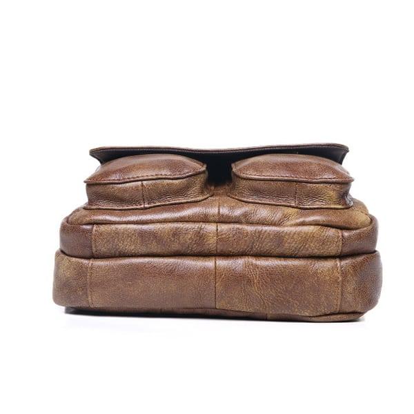 Túi đeo chéo nam đựng iPad da thật dạng hộp KT48 đáy túi