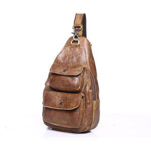 Túi đeo chéo ngực nam da thật giá rẻ TDL 15