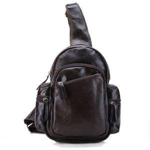 Túi đeo chéo ngực nam da thật giá rẻ TDL-16