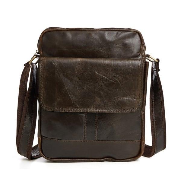 Túi xách nam da bò nguyên miếng dặn hộp đeo chéo KT49
