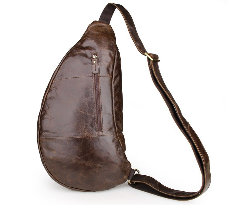 Túi đeo ngực nam da thật thời trang sang trọng TDL18 mặt sau