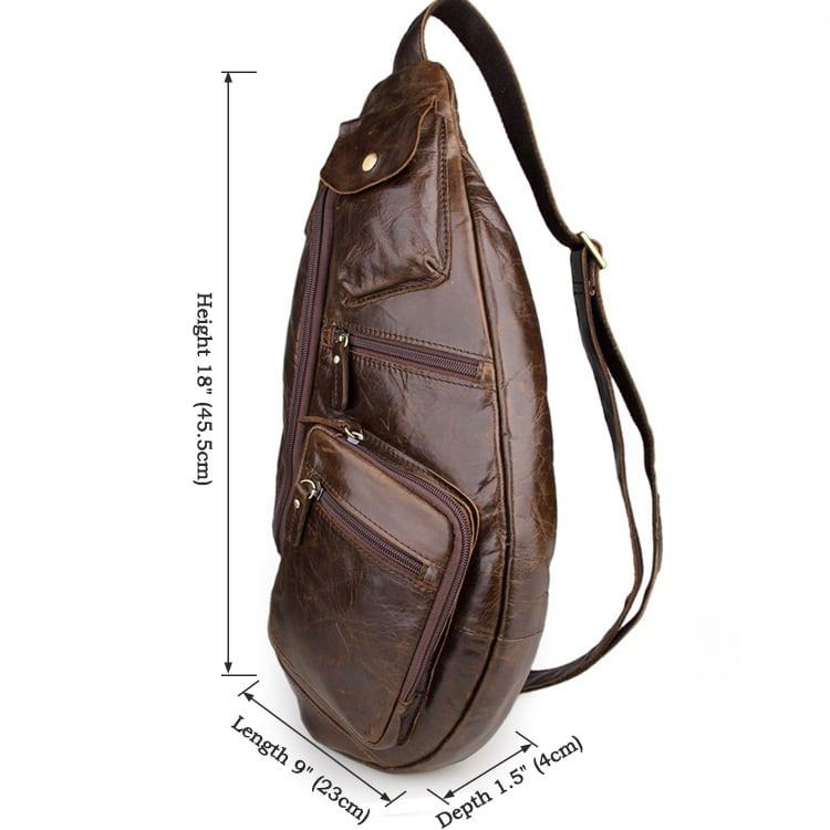 Túi đeo ngực nam da thật thời trang sang trọng TDL18 kích thước