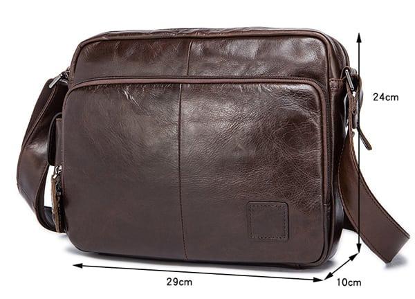 Túi xách nam da bò đựng iPad KT53 kích thước