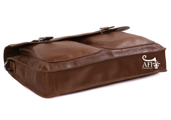 Cặp da nam cán bộ da bò thật vừa Laptop 15 inch CD38 đáy túi