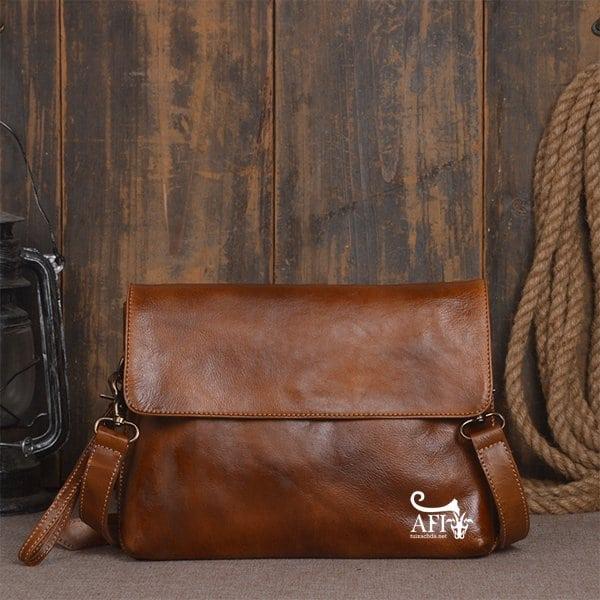 Cặp da nam clutch Bag đeo chéo cầm tay da thật sang trọng CD43