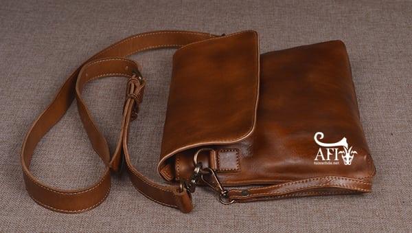 Cặp da nam clutch Bag đeo chéo cầm tay da thật sang trọng CD43 dây đeo chéo