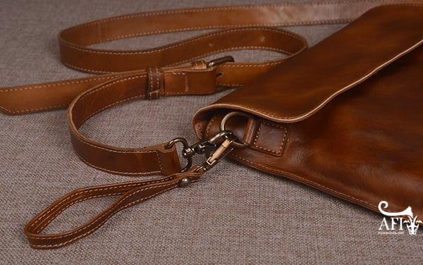 Cặp da nam clutch Bag đeo chéo cầm tay da thật sang trọng CD43 dây cầm tay